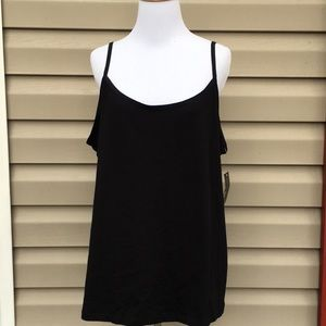 NWT Ana Women's black sleeveless camisole top
